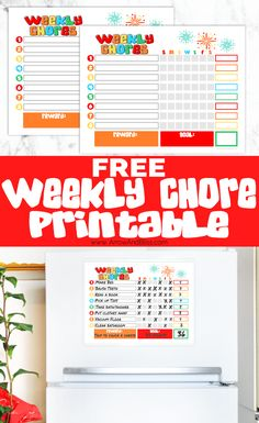 Keep your chores organized! Grab this FREE weekly chore chart and reward your kids for meeting their goals. Designed by Victoria Shari at Arrow and Bliss Weekly Chore Charts, Weekly Chores, Chore Chart Kids, Chore Chart Teenagers, Chore Rewards, Kids Rewards, Rewards Chart, Chore List, Chore Schedule