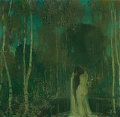 Edward Steichen (American, Nymph by a Lake. Oil on canvas, x cm. Edward Steichen, Stencil Painting, Painting & Drawing, Paint Stencils, Morgana Le Fay, Alfred Stieglitz, Great Photographers, Glamour Photography, Magazine Art