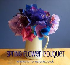 Four ideas to make a beautiful spring flower bouquet - spring craft idea