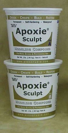 Apoxie Sculpt 4 LB Epoxy Clay Natural by Aves 0 Shrinkage Cracking Ceramic for sale online Do It Yourself Inspiration, Painted Gourds, Paperclay, Gourd Art, Air Dry Clay, Resin Crafts, Gourd Crafts, Plaster Crafts, Arts And Crafts Supplies