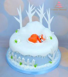 Winter Cake #winter #cake #fondant #torten #motivtorten #fucks #fox