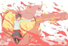 ANIMATOR Hosoda Mamoru, Bakemono no ko (The Boy and The Beast), Kyuta, Kumatetsu