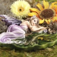Resting Lily Pad Garden Fairy #fairygarden #factorydirectcraft