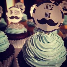 Little Man Baby Shower.  Cupcakes  https://www.facebook.com/PartyFishEvents