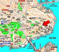 Lisbon Portugal Map | Hotel Travel Park encontra-se do seu lado esquerdo