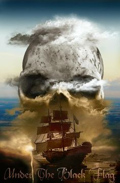 Under the Black Flag.............   ................................♥...Nims...♥ Pirate Skull, Pirate Art, Pirate Ships, Pirate Life, Pirate Pictures, Renaissance Pirate, Black Sails, Ahoy Matey, Photoshop