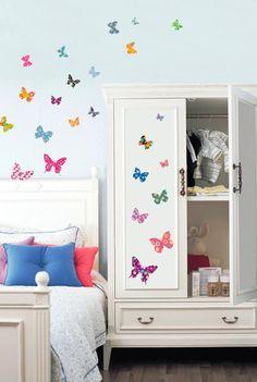 Orientalism Butterfly Home Decor Mural Art por verryberrysticker