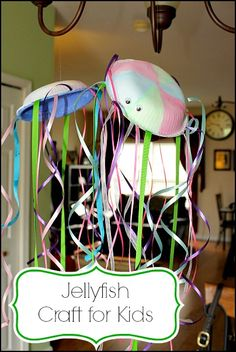 Jellyfish Craft for Kids. Fun and colorful after school activity. Let #Chamberlain #MyQ alert you that the kids made it home safely.