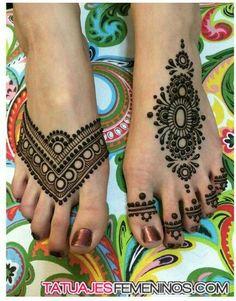 tatuaje henna pierna - Buscar con Google