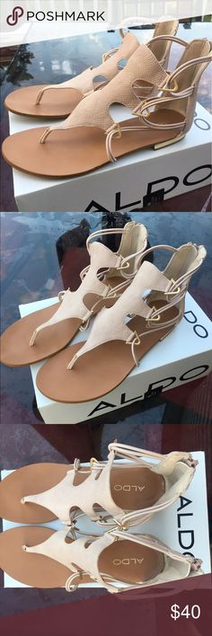 Also rose gold sandal Rose gold flats with zip up in the back. Perfect condition! 🌹 Aldo Shoes Sandals