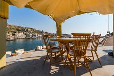 Luxury and Relaxing place at Kalithea Spring Beach, Rhodes,Greec Relaxing Places, Greece Travel, Rhodes, Patio, Luxury, Spring, Beach, Outdoor Decor, Home Decor