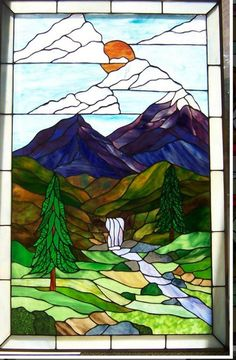 33+ Ideas Pine Tree Pattern Stained Glass