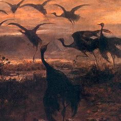 Józef Marian Chełmoński  Odlot żurawi, 1871