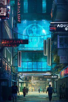 ArtStation Beyond Human Environment Design Concept by FranklinChan on DeviantArt Arte Cyberpunk, Cyberpunk City, Cyberpunk 2077, Cyberpunk Aesthetic, Human Environment, Environment Design, Space Opera, Samurai, Neon Noir