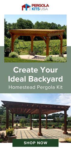 Enjoy your backyard all year long with our custom pergola kits. They come ready-to-assemble and made to fit your outdoor space perfectly! Outdoor living has never been easieror more fun! Cedar Pergola Kits, Diy Pergola, Red Cedar Lumber, Backyard Landscaping, Landscaping Ideas, Western Red Cedar, Pergola Designs, Stain Colors, Outdoor Entertaining