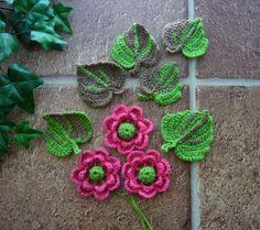Crochet appliques www.etsy.com/shop/CraftsbySigita