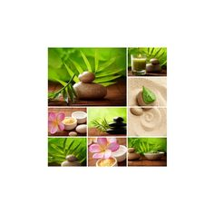 Spa Still Life Collage Wall Art Print (290 MXN) ❤ liked on Polyvore featuring home, home decor and wall art
