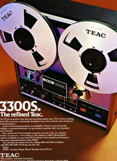 1974 ad for the Teac A-3300 reel to reel tape recorder in Reel2ReelTexas.com's vintage recording collection