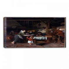 Design Art 'Jan Steen - The Satyr and the Peasant Family' Art Print