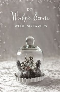 Find out how to make these cute DIY wedding decoration souvenirs at http://blog.myweddingreceptionideas.com/2014/11/diy-winter-scene-wedding-favors.html