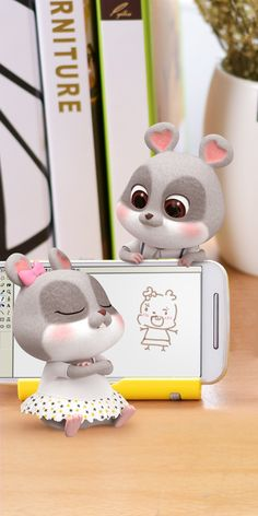 Rabbit Wallpaper, Chibi Wallpaper, Cute Disney Wallpaper, Retro Wallpaper, Cute Love Wallpapers, Cool Wallpapers For Phones, Cute Cartoon Wallpapers, Cute Rabbit Images, Cartoon Girl Images