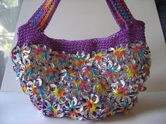 Soda Can Tab Craft Ideas | soda can tab purse