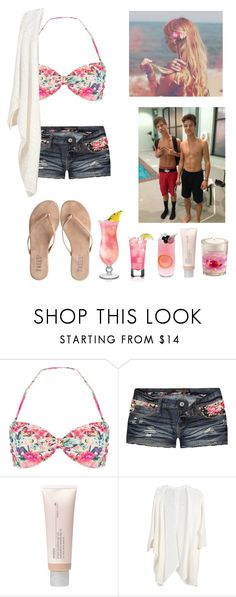 """""""To the beach with Taylor and Cameron"""" by seems99 ❤ liked on Polyvore featuring Accessorize, Celebrity Pink, T KEES and Aveda"""