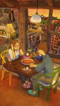 WALLPAPERS FOR IPHONE 5 l FROM WALLPAPERS APP l IOS l (灬╹ω╹灬) Cute Couple Drawings, Cute Couple Art, Cute Couples, Puuung Love Is, Cuddle Love, Couple Cartoon, Love Illustration, Naive Art, Love Is Sweet