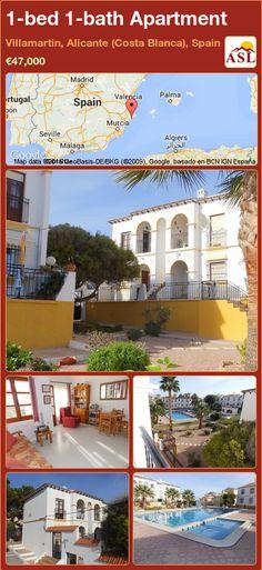 1-bed 1-bath Apartment in Villamartin, Alicante (Costa Blanca), Spain ►€47,000 #PropertyForSaleInSpain