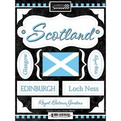 Discover Scotland Scrapbooking Stickers