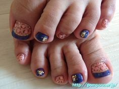 Feet French nail leopard