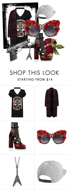 """""""Guns n roses 🌹🔪"""" by fashiondesignevalour ❤ liked on Polyvore featuring WearAll, Rochas, Burberry, Dolce&Gabbana, Zadig & Voltaire and RVCA"""