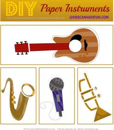 DIY Paper Instruments - Make some music.