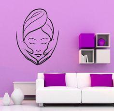 Spa Beauty Salon Wall Vinyl Decal Massage Sticker Girl Woman Art Modern Design Murals Interior Beauty Salon Decor - New Ideas Beauty Salon Decor, Beauty Salon Interior, Spa Design, Salon Design, Design Girl, Wall Stickers Home Decor, Vinyl Wall Decals, Sticker Vinyl, Facial Room
