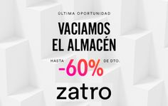 Últimas rebajas de hasta un 60% en la web de Zatro