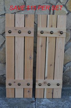 Rustic cedar shutters with black clavos on their way to their new Home in Texas!