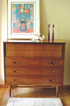 Charming Vintage Danish Modern Style Mid Century Sculpted By EuroFair, $595.00