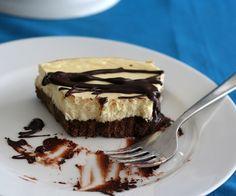 Gluten-Free Brownie Cheesecake  S THM uses cream cheese, heavy cream, eggs, pecans, butter.  Serves 10 4.1g net carbs