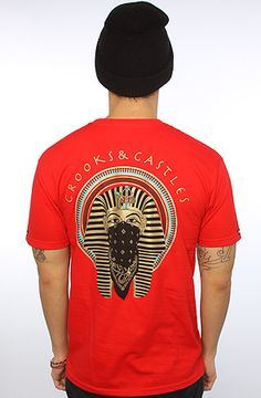 The Pharoah Tee in Red by Crooks and Castles  use rep code: OLIVE for 20% off