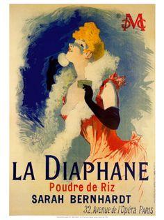 La Diaphane Sarah Bernhardt by Jules Cheret