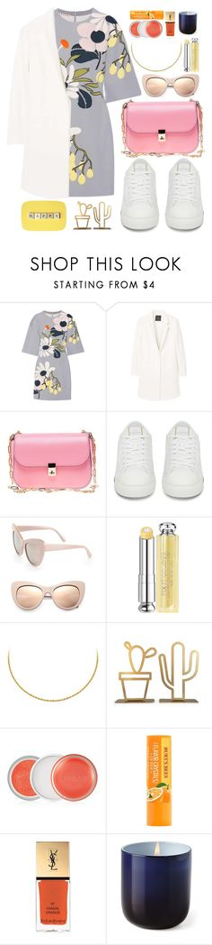 """h.a.p.p.y"" by carolsposito ❤ liked on Polyvore featuring Marni, MANGO, Valentino, STELLA McCARTNEY, Christian Dior, Clinique, Yves Saint Laurent and Jonathan Adler"