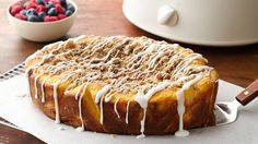 Your house will fill with the aromas of cinnamon and butter as this almost-from-scratch coffee cake cooks away in your slow cooker.