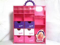 B2-1993 Mattel Barbie Shoes & Accessory Case w/ 14 Draw Compartments & 6 Shelves #Mattel