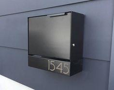 Black Modern ELY B mailbox -design, Modern Mailbox small-medium, Wall Mounted mailbox, MODERN - lock Wall Mount Mailbox, Mounted Mailbox, Contemporary Mailboxes, Contemporary Decor, Post Box Modern, Post Box Wall Mounted, Modern Mailbox, Mailbox Landscaping, Home Decor