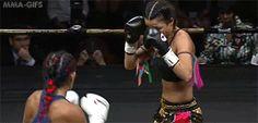 Muay Thai Gifs bonito codo de giro