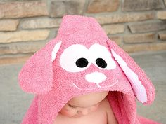 Bunny Hooded Towel Tutorial - Crazy Little Projects