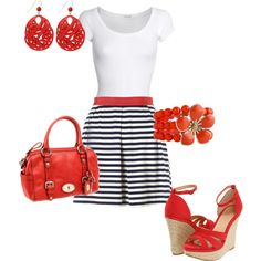 """summer lunch"" by einaphets on Polyvore.....notice the fossil bag....BIRTHDAY PRESENT!!!"
