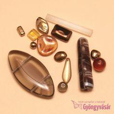 arna-bronzszínű vegyes cseh gyöngy, 15 g