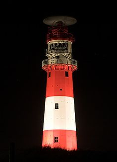 Kleiner Leuchtturm Borkum bei Nacht. Rechte: M. Werning | leuchttuerme.net