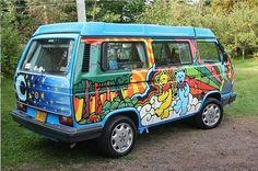 Grateful Dead Dancing Bear VW Bus